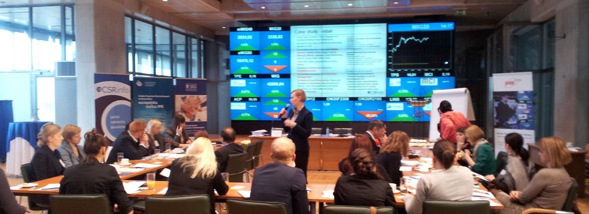 """""""CSR Essentials"""" – seminarium realizowane wspólnie z Stowarzyszeniem Emitentów Giełdowych, 14.03.2012, GPW, Warszawa"""