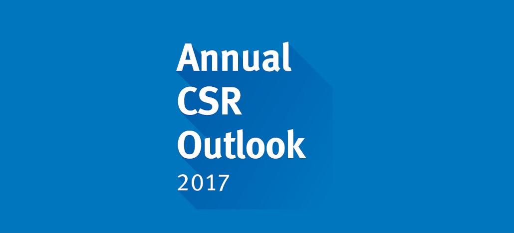 Najnowszy raport Annual CSR Outlook 2017 już do pobrania